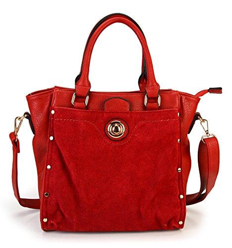 rimen-co-womens-top-handle-pu-leather-zipper-closure-tote-handbag-bl-1611-burgendy