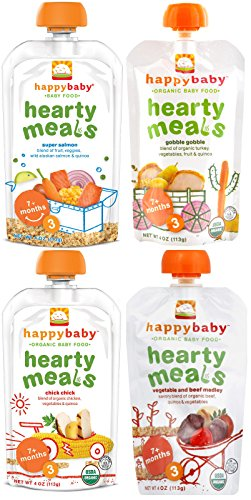 Happy Baby Organic Baby Food Stage 3 Hearty Meals Variety Pack, 4 oz Pouches, 16-Count (Plum Baby Food Variety compare prices)