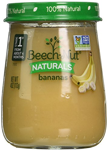 Beech-Nut Stage 1 Baby Food, Bananas, 4 Ounce (Pack of 10) (Baby Food Stage 1 Beechnut compare prices)