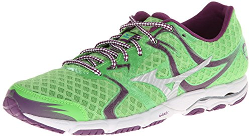 Mizuno Women's Wave Hitogami Running Shoe,Green Flash/Caribbean Sea,8.5 B US