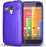 TUDIA Ultra Slim Melody TPU Bumper Protective Case for Motorola Moto G SmartPhone (2013 1st Gen Only) (Purple)