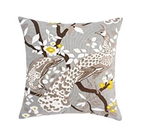 Dwell Studio DwellStudio Peacock Citrine Pillow, 20 by 20-inches at Sears.com