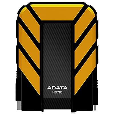 ADATA USA Dash Drive 2TB HD710 Military-Spec USB 3.0 External Hard Drive, Yellow (AHD710-2TU3-CYL)