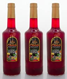 3 Bottle Pack Prickly Pear Syrup 35 oz