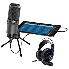 buy Package: Audio Technica At2020Usbi Cardioid Condenser Usb Recording/Studio Microphone + Presonus Hd7 Lightweight Semi-Closed Back Professional Studio Monitoring Headphones