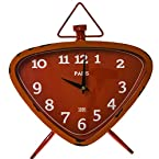Orange Metal Table Clock