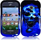 Samsung Galaxy Centura S738C ( Straight Talk , Net10 ) Phone Case Accessory Icey Skull Hard Snap On Cover with Free Gift Aplus Pouch