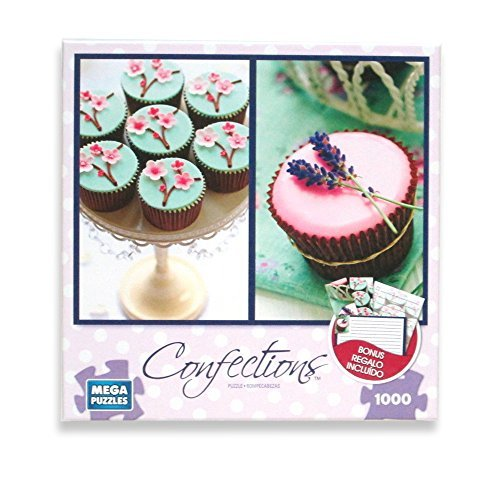 Cherry Blossom and Lavender Cupcakes 1000 Piece Puzzle + Stationery Set