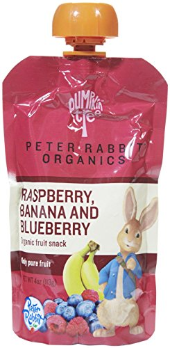 Peter Rabbit Organics Fruits - Raspberry Blueberry & Banana - 4 oz - 10 pk