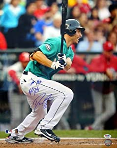 Dustin Ackley Seattle Mariners MLB Hand Signed 16x20 Photograph Alternate Jersey... by All About Autographs