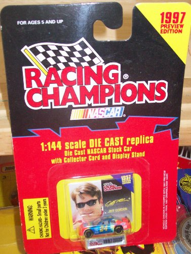 Racing Champions NASCAR JEFF GORDON 1:144 scale DIE CAST Replica with Collector Card and Display Stand - 1