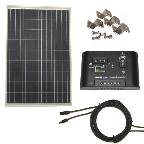 WINDYNATION Complete Solar 100 Watt Panel Kit + Charge Controller Review