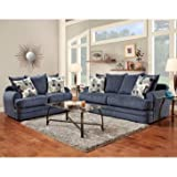 Flash Furniture Exceptional Designs Chenille Living Room Set, Caliber Navy