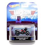 "Kawasaki Ninja GPZ 900R ""Top Gun"" Hot Wheels 2015 Retro Series 1/64 Die Cast Vehicle"