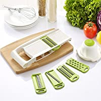 Fucool Multi-function Kitchen Tools - Fruits Vegetables Mandoline Slicer - Stainless Steel Blades Cutter Graters...