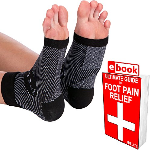 1ST Elite Foot Sleeves -Medical Grade Graduated Ankle Brace Compression Socks for Achilles Tendonitis, Plantar Fasciitis & More