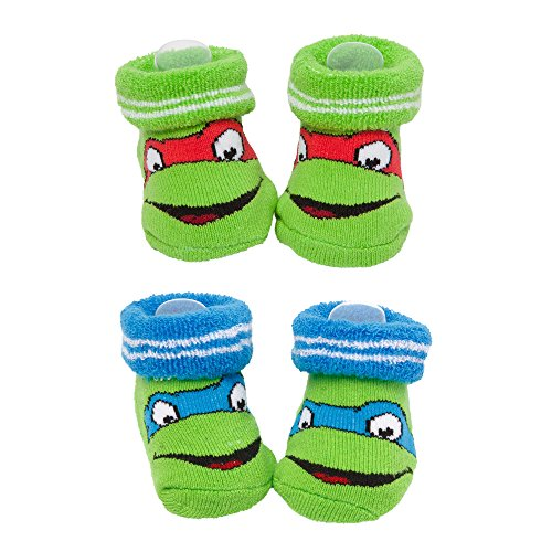 Teenage Mutant Ninja Turtles Infant Baby Booties 2-Pack
