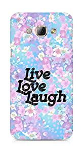 Amez Live Love Laugh Back Cover For Samsung Galaxy A8