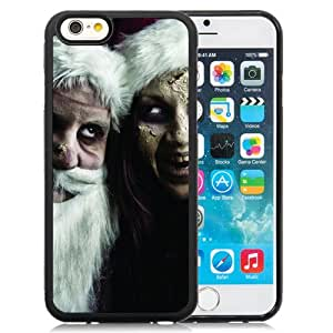 6 Phone cases, New Year Scary Snow Maiden Santa Claus Black iPhone 6 4.7 inch TPU cell phone case