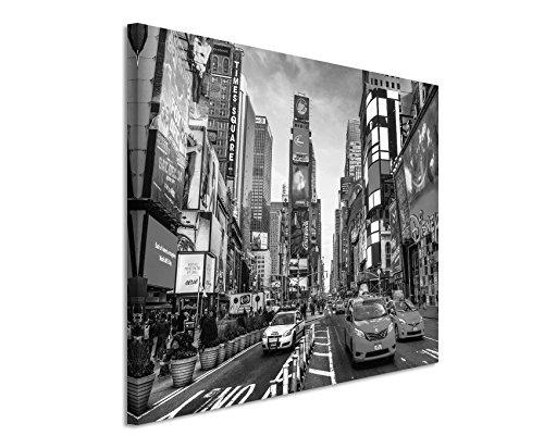 50x70cm Leinwandbild schwarz weiß in Topqualität Amerika New york City Times Square Schnittpunkt