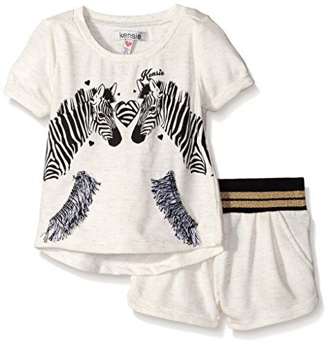 kensie-little-girls-2-piece-french-terry-ken-zebra-metallic-knit-pullover-and-short-oatmeal-heather-