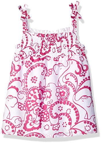 Gymboree Toddler Baby Girls' Paisley Print Tank Top with Tie Shoulder, White, 12-18