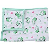 Tiny Care Baby Bath Towel Terry White Printed (Green)