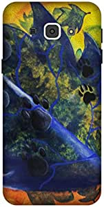 The Racoon Grip printed designer hard back mobile phone case cover for Samsung Galaxy A8. (For Dog Lo)