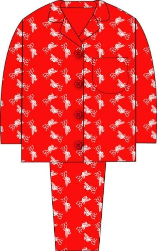 Official Liverpool FC Football Club Buttoned Pyjamas 5-6 Years by the Pyjama Factory