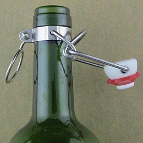 12-EZ-Tapa-Flip-Top-Tapn-raz-Junta-Trica-tipo-Swing-Tops-de-repuesto-de-botellas-de-cerveza-Homebrew-Infusin