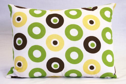 Mod Dots/Stripes Green/yellow/choco Boudoir