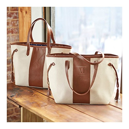 Mud Pie Leather Initial Tote (S) (Mud Pie Leather Tote compare prices)