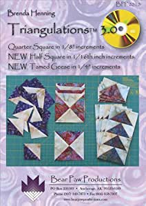 "Triangulations 3.0 CD: Quarter Square in 1/8"" Increments, NEW Half Square in 1/16"" Increments, NEW Tamed Geese in 1/4"" Increments"