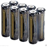 DILL 8Pcs 18650 4000mAh 3.7V Li-ion BRC Rechargeable Battery Flashlight Torch in UK (4 Pairs)