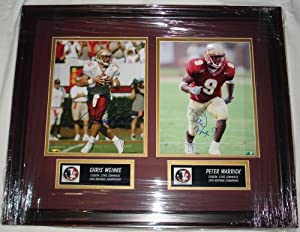 Chris Weinke & Peter Warrick Hand Signed Autographed Florida State Seminoles 8 x... by Sports+Memorabilia