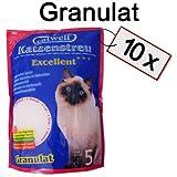 Silikat Katzenstreu von Catwell im Sparpack (10 x 5L), Granulat und 100% biologisch
