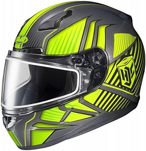HJC CL-17 Motorcycle Helmet Redline Snow Hi Viz Yellow Size XX-Large