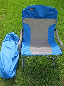 Rocky Oversize Folding Arm Chair With Carry Bag Holds 300 LBS