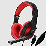 TECH-COM TTPL-HP-342 USB Surround Stereo Gaming Headset Headband Headphone With Mic For PC