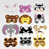 51nRWiOiO6L. SL160  12 Asst. Kids Foam Animal Face Masks Zoo Farm Party