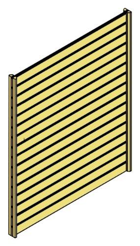 Skan Holz Seitenwand für Carport 141 x 200 cm Profilschalung bestellen