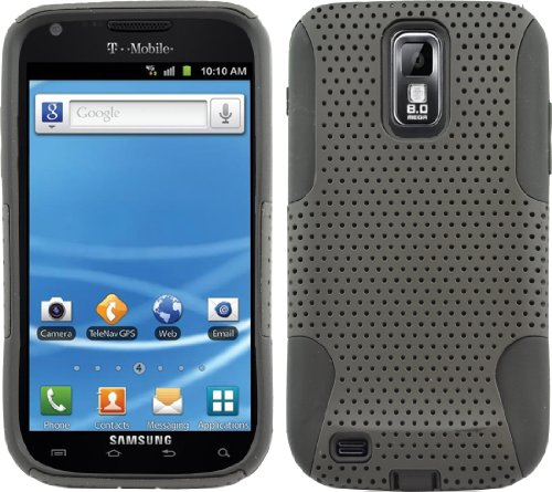 Black Mesh Case Cover For T-Mobile Samsung Galaxy S 2 Ii S2 Sii T989 Hercules