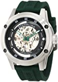 Stuhrling Original Men's 314R.3316D71 Leisure Zolara 360 Automatic Skeleton Green Rubber Strap Watch