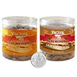 Chocholik Dry Fruits - Almonds Mexican Salsa & Jamaican Jerk With 5gm Pure Silver Coin - Diwali Gifts - 2 Combo...