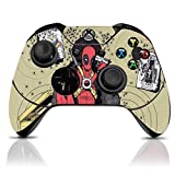 (Deadpool Headshot) Custom Xbox One Controller with Exclusive Design Vinyl Skin Decal Uniquely Hand Painted and Air-Brushed (Color: Deadpool HeadShot)