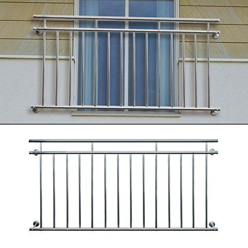 ecd germany franz sischer balkon 184 x 90 cm edelstahl gl nzend balkongel nder stabgel nder. Black Bedroom Furniture Sets. Home Design Ideas