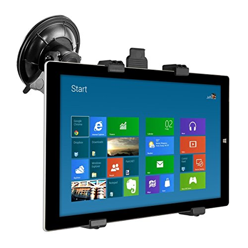 kwmobile windshield car mount for Microsoft Surface Pro 3 - car mount with suction cup in black