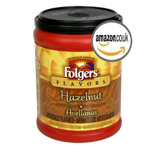 Folgers Flavors - Hazelnut - Ground Coffee - 11.5 Oz Jar
