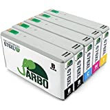 JARBO 1Set+1BK 5 Pack Replacement For Epson 676XL Ink Cartridge(Black Cyan Magenta Yellow) Compatible With Epson Workforce Pro WP 4530 WP 4020 WP 4540 WP 4520 WP 4590 WP 4010 WP 4023 WP 4533 WP 4090