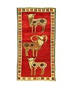 Kilim Carpets by Jalal Alfombra Gashgai (Rojo/Beige)